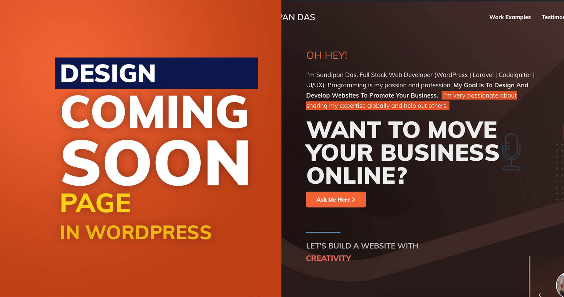 Comming Soon Page Design in WordPress